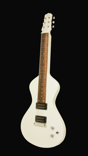 NEW Asher Electro Hawaiian® Junior Lap Steel Antique White - More Improvements All Around!!
