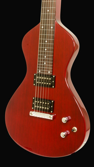NEW Asher Electro Hawaiian® Junior Lap Steel Trans Cherry - More Improvements All Around!!