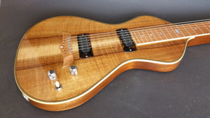 SOLD Asher 2016 Electro Hawaiian Model I Lap Steel Guitar, A+ Grade Hawaiian Koa Top #963