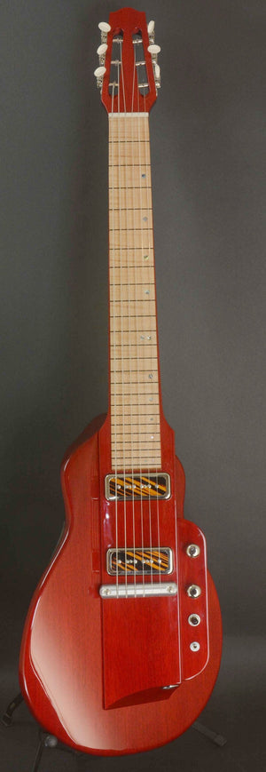 "SOLD 2018 Asher ""Freedom Slide"" Squareneck Guitar #1029 Trans Cherry Red"