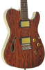 SOLD Asher 2015 Hollow T Custom #871 with figured Bubinga top and custom wound pickups
