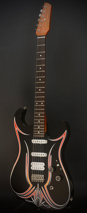 SOLD 2018 Asher SSH Hot Rod Custom Guitar with Duncans and Pinstriping!