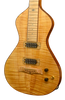 "SOLD Asher 2016 ""Hummingbird"" Lap Steel with Flame Maple Top and Hand-cut Inlay #894"