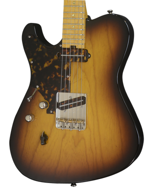 SOLD 2017 T Deluxe Tobacco Burst Lefty with Tortoise Pick Guard, #1016