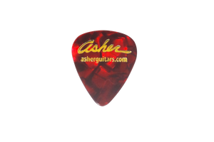 Asher Medium Weight Guitar Picks, Red - Pack of 10