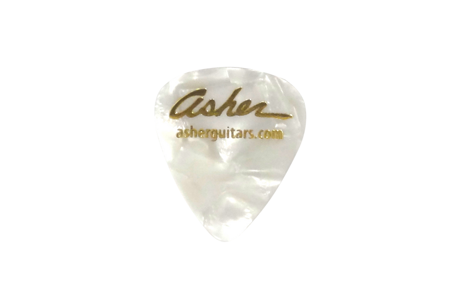 Asher Heavy Weight Guitar Picks, White - Pack of 10