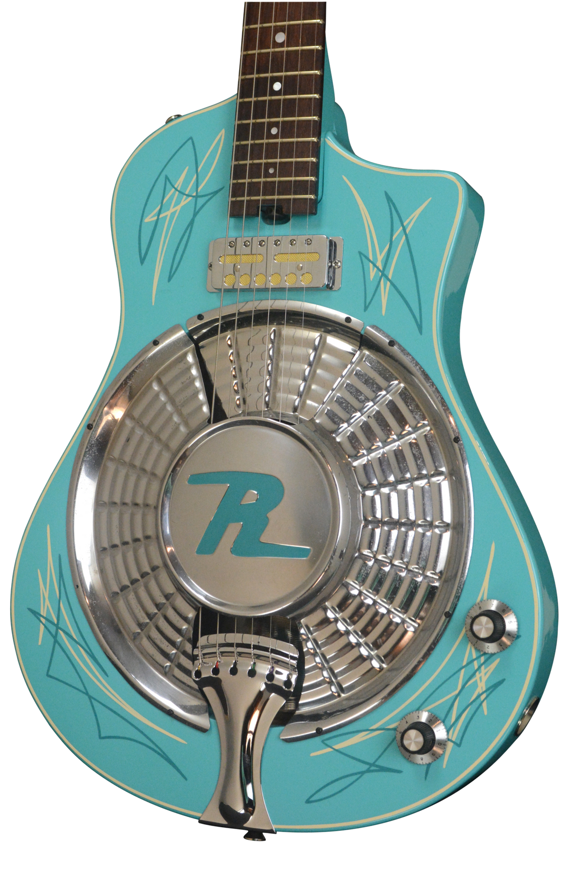 SOLD 2017 Resosonic Rambler, Baby Blue with Full Pinstriping, #971