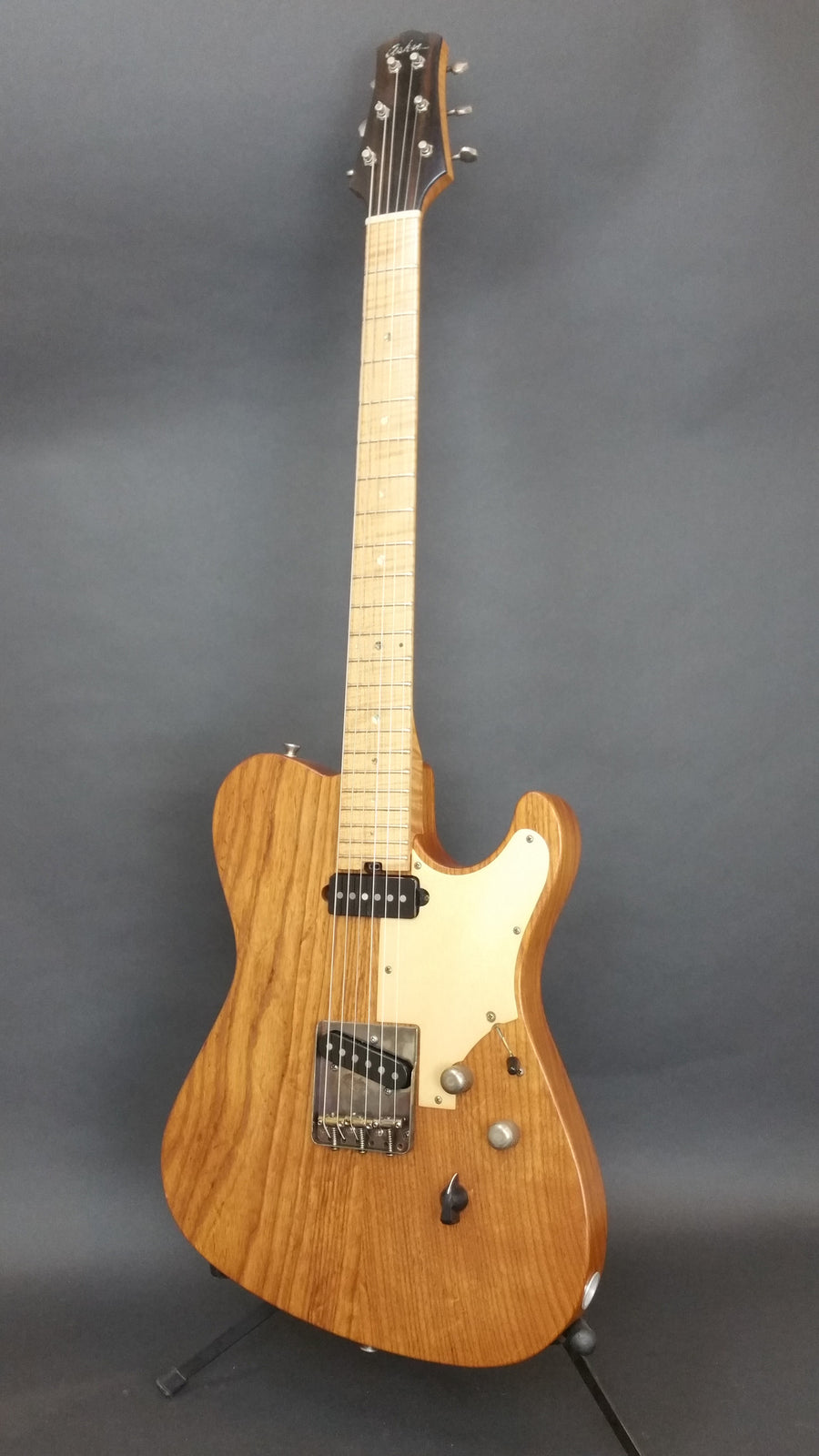 SOLD Asher T Deluxe Roasted Swamp Ash, Anodized Metal Guard, #955 Thin Skin Nitro
