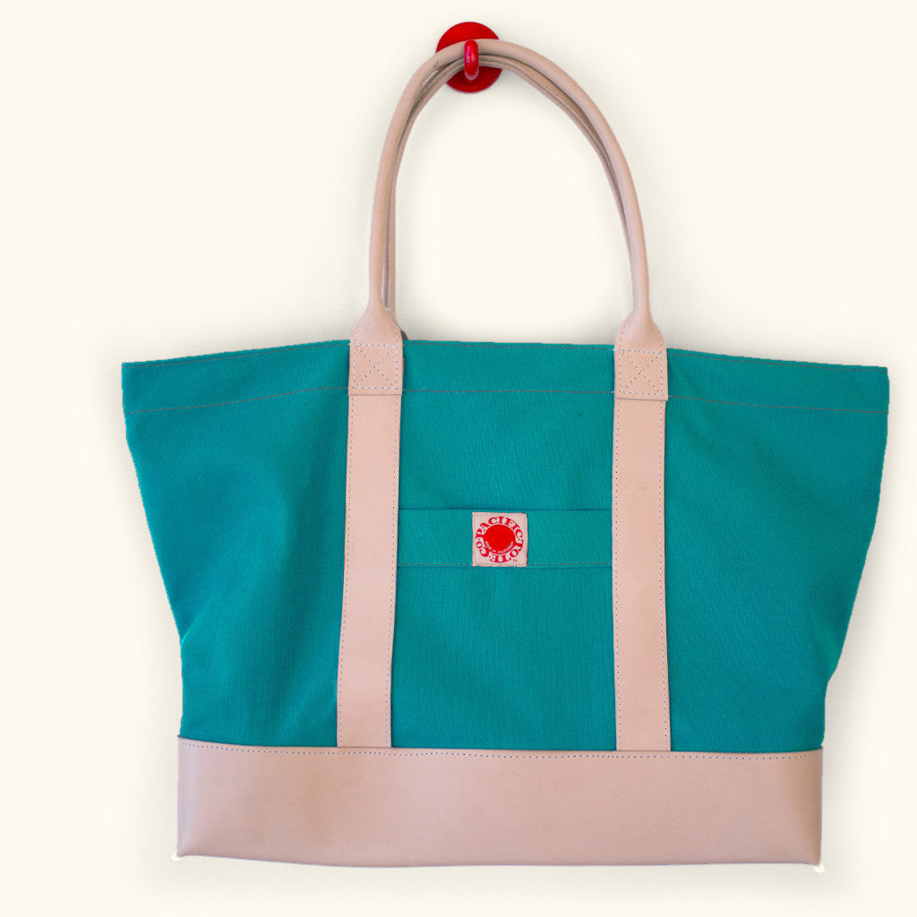 "Leather & Canvas ""Big Sur"" Zipper Tote (BLZ150001)"