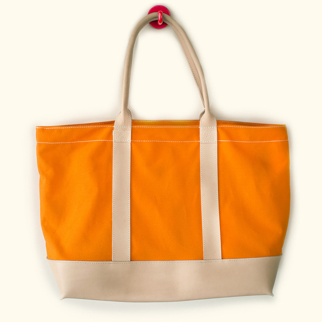 "Leather & Canvas ""Big Sur"" Zipper Tote (BLZ150004)"