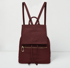 Vegan leather backpack burgundy by Urban Originals