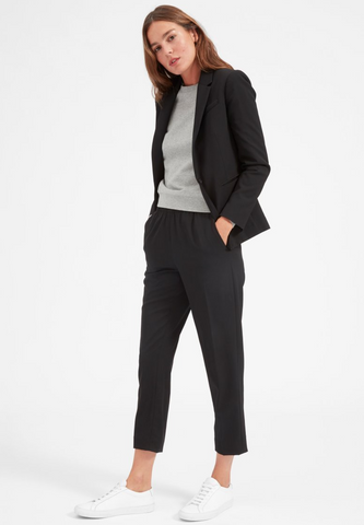 Organic Oversize Blazer Black by EVERLANE