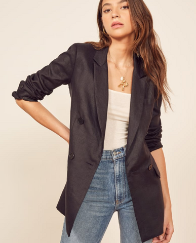 Oversized Black Blazer by Reformation