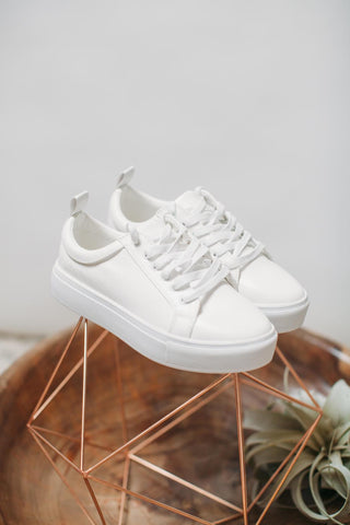 Sustainable Chunky White Rubber Sole Sneaker Bonaverte by Matt & Nat
