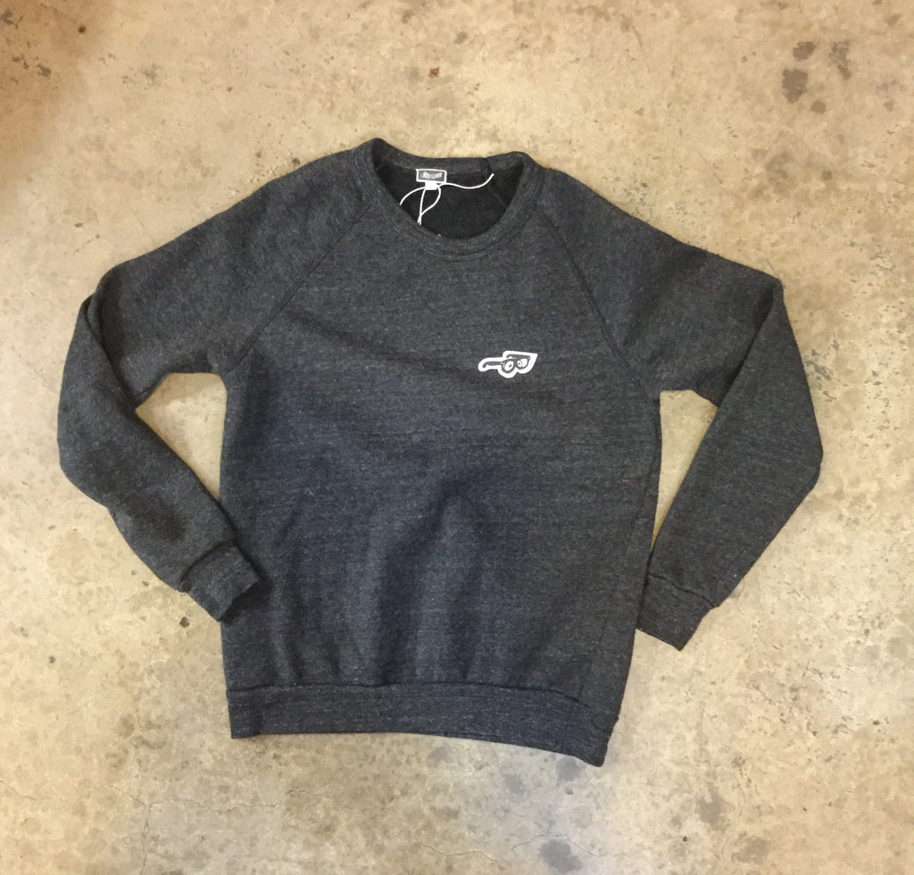 Little Glasses Fleece Crew - Heather Grey