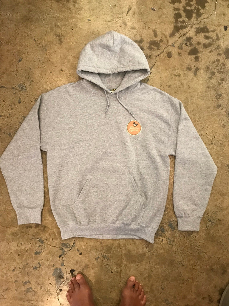 Mucho Aloha - Small Orange Felt Patch Sweatshirt