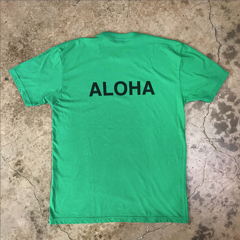 Mucho Aloha - Front & Back Print Tee
