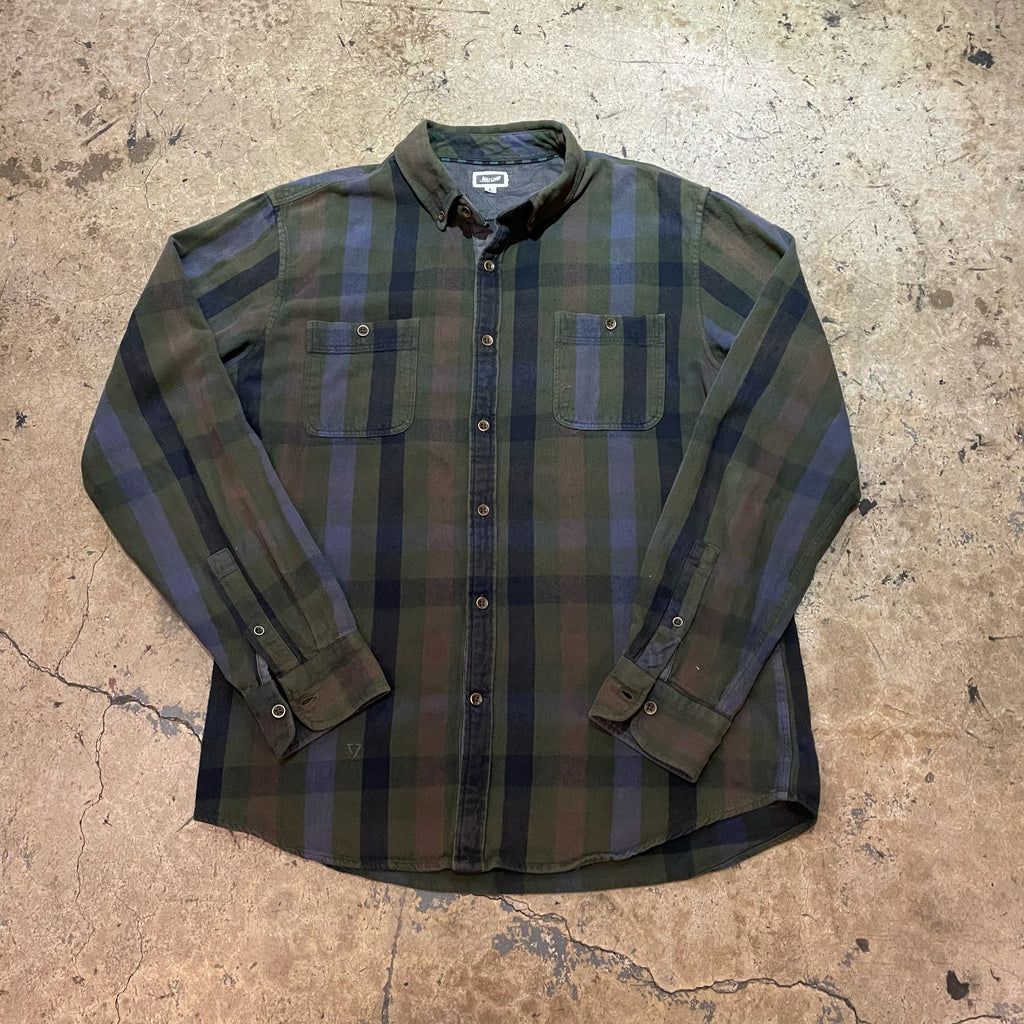 Mucho Aloha - Green Plaid Flannel - Neon Puff