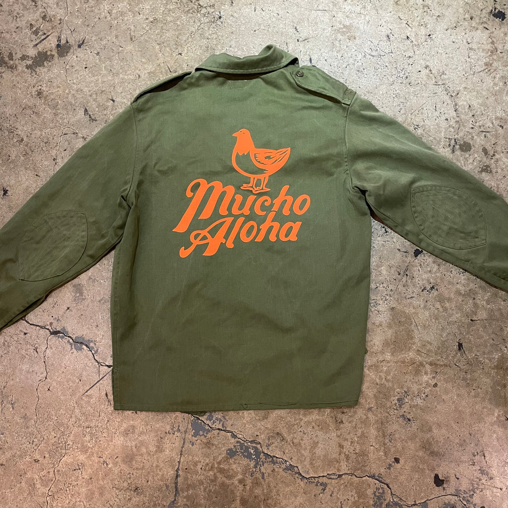 Mucho Aloha - Womens Military Jacket - Neon Puff