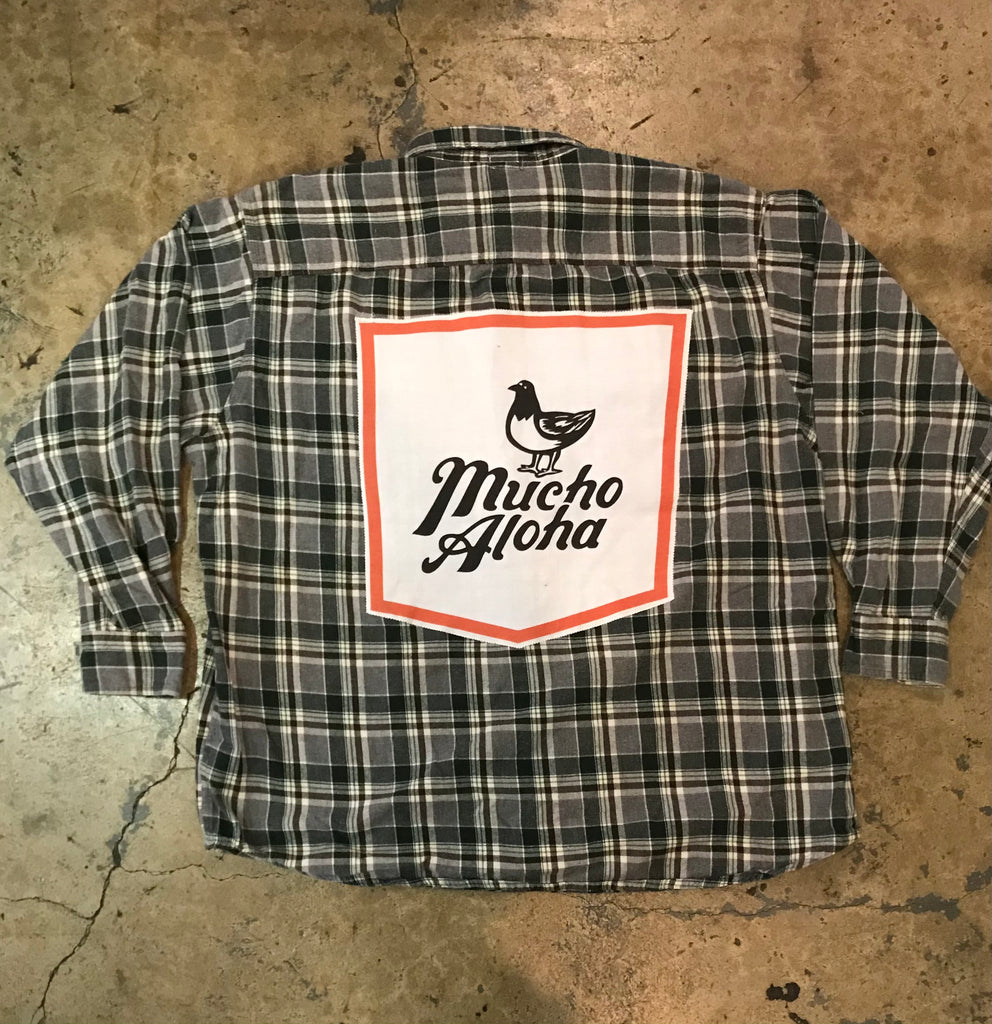 Mucho Aloha - Plaid Flannel Pocket Patch Shirt