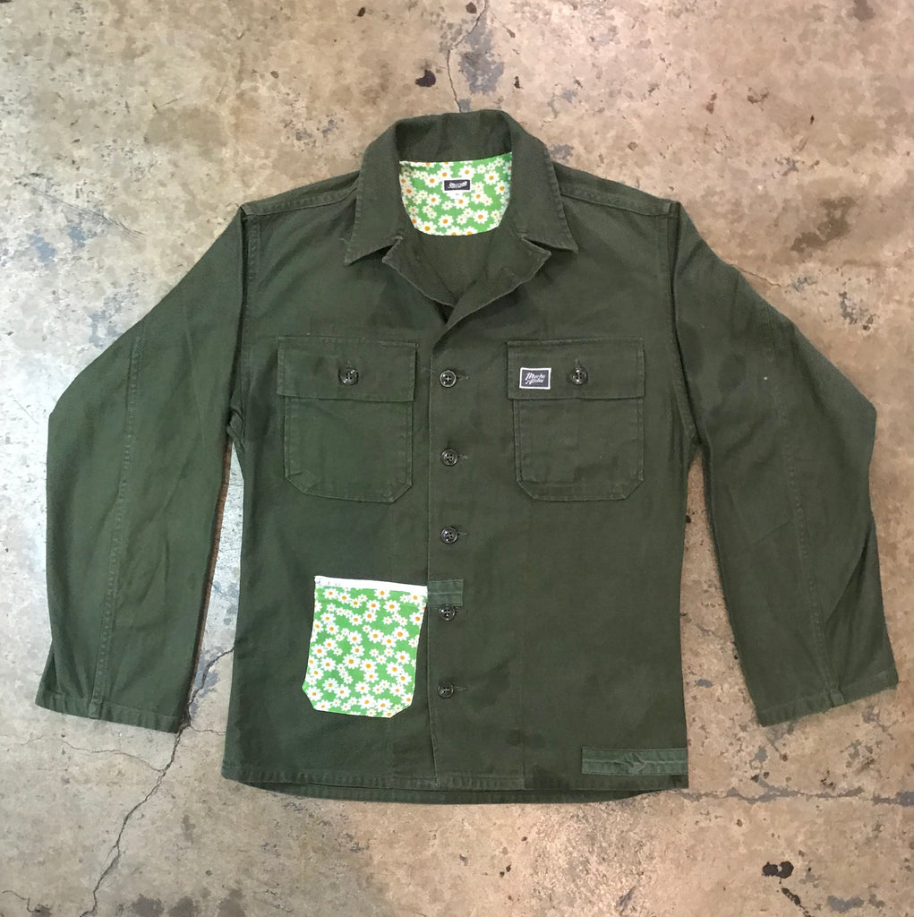Mucho Aloha - Floral Pocket Military Shirt