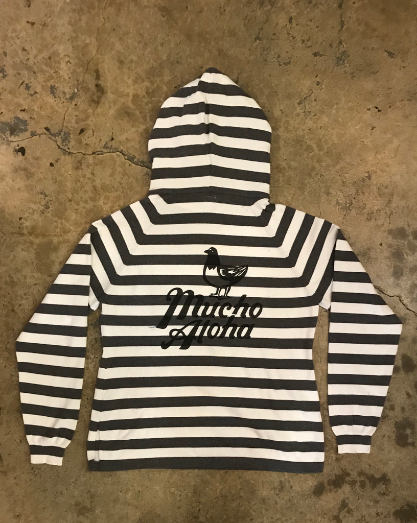 Mucho Aloha - Stripe Hooded Sweatshirt