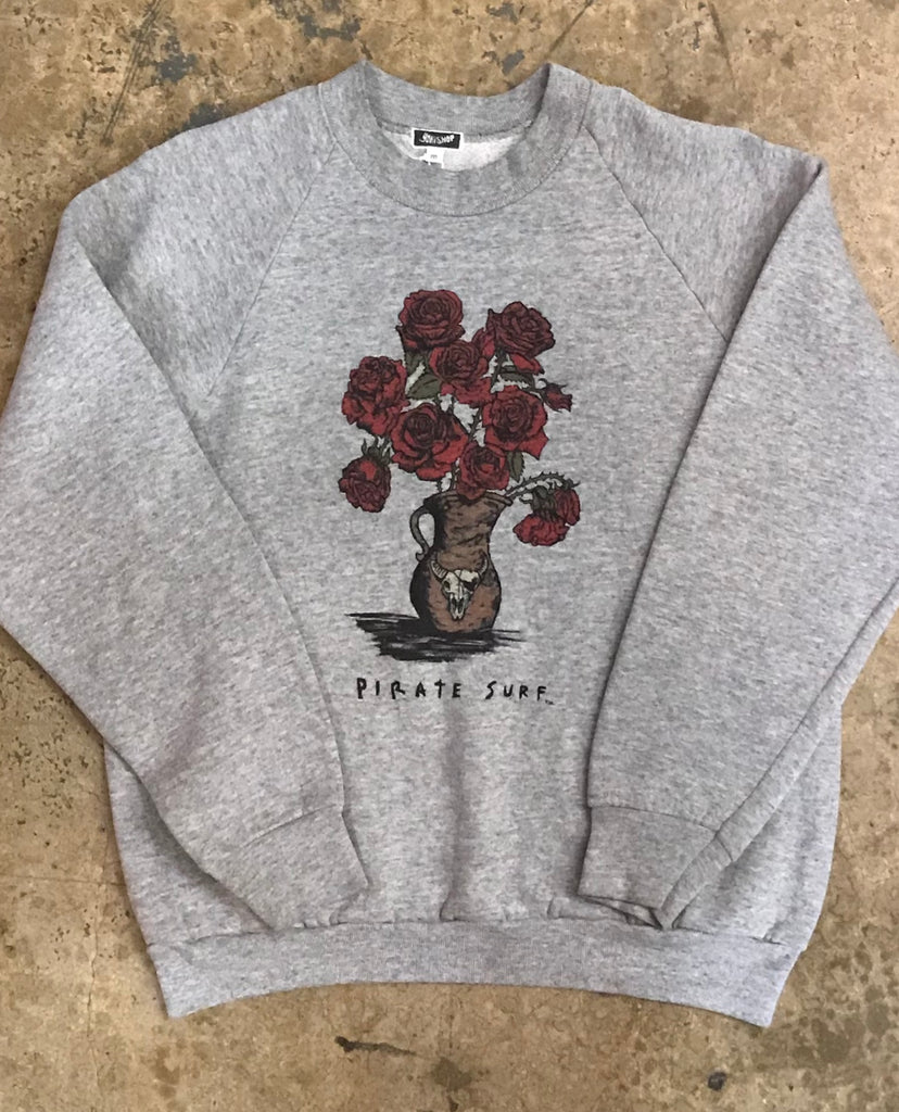 Pirate Surf - Dead Roses Crewneck Sweatshirt
