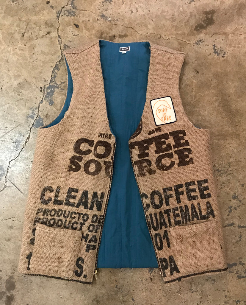 Surf Is Free - Coffee Bean Bag Vest
