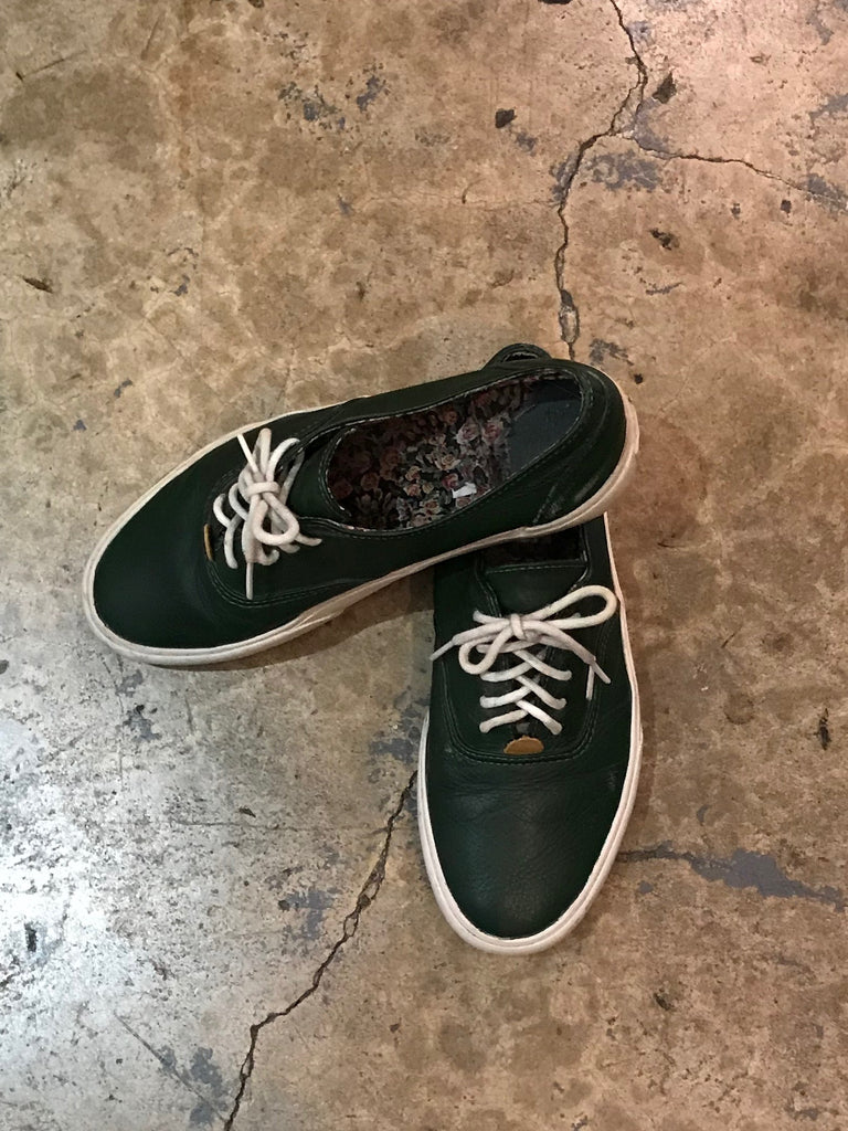 THRIFT - Vans Vault Green Leather Shoes