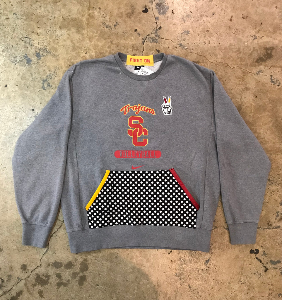USC - Polka Dot Volleyball Crewneck Sweatshirt