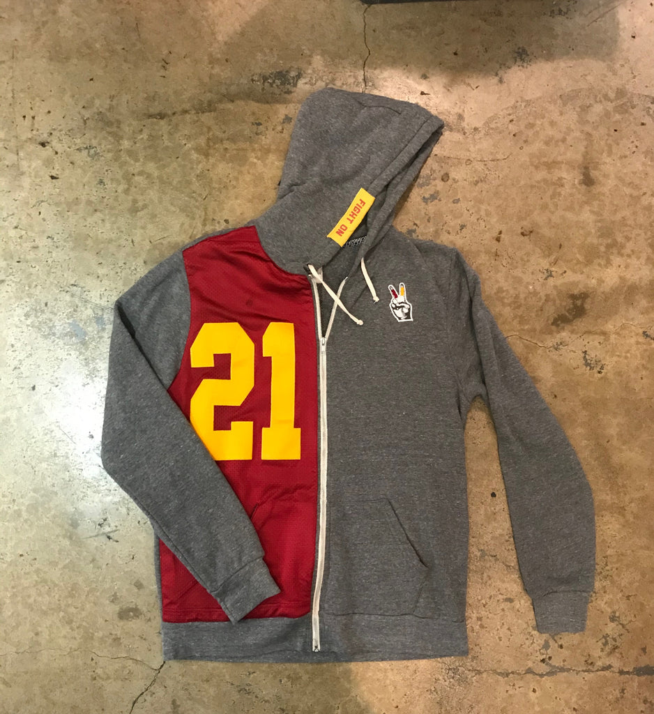 USC - Split Zip Up Sweatshirt