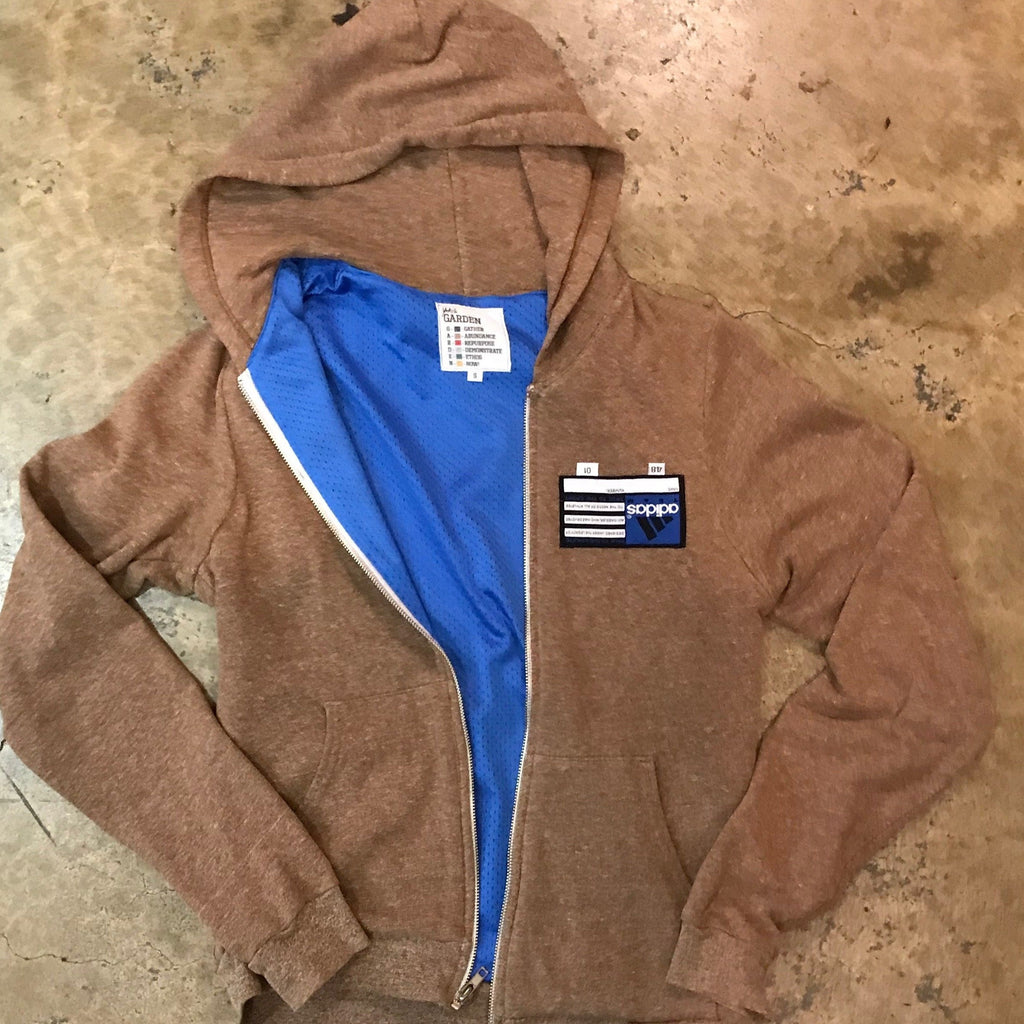 Yoki's Garden - UCLA No Name Brown Zipper Hoodie