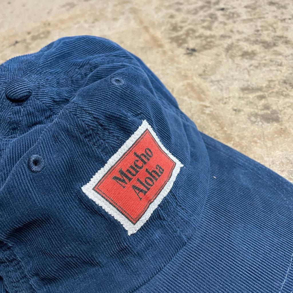 Yokishop - Navy Mucho Aloha Patch Corduroy Hat