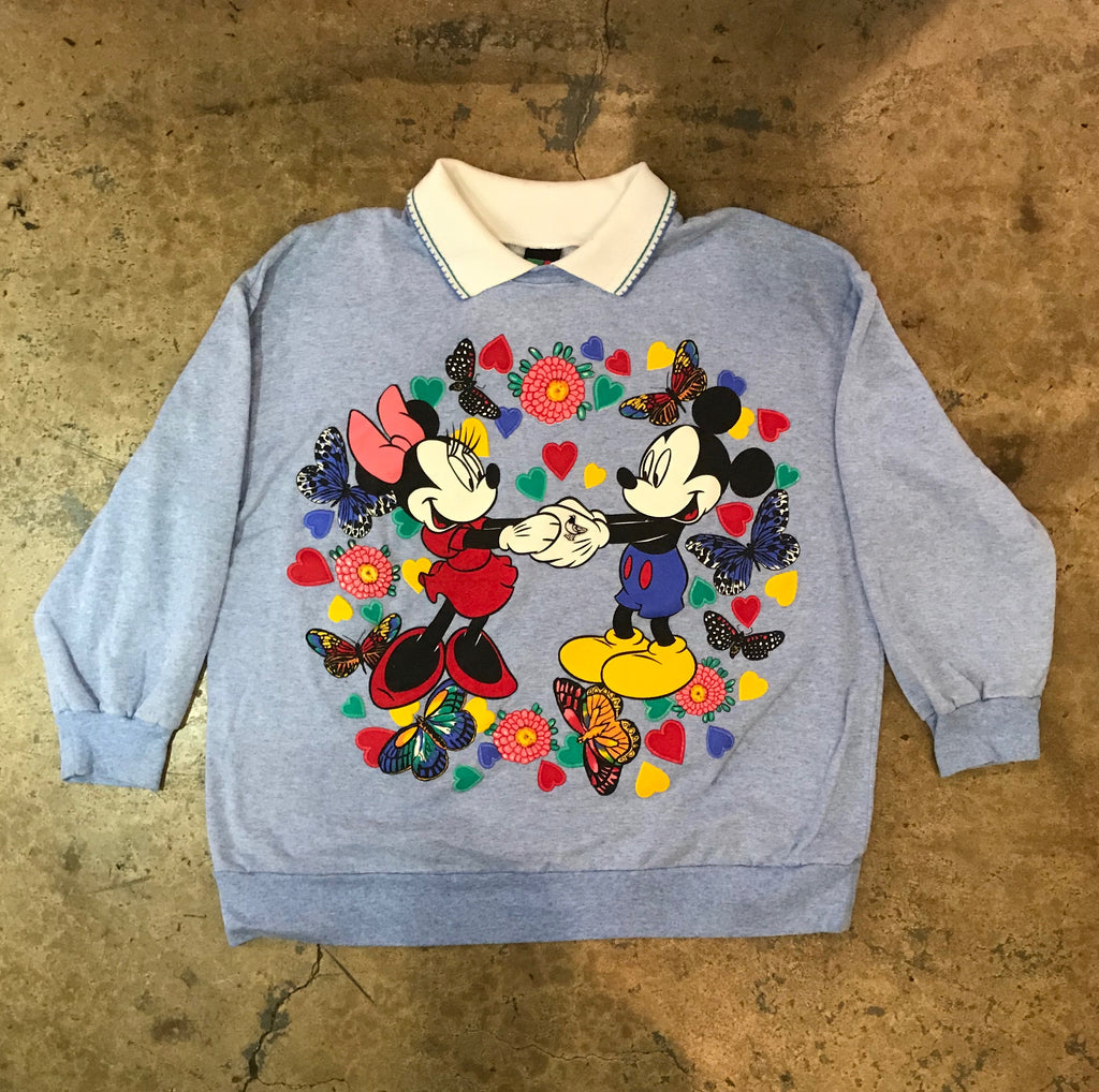 Yokishop - Vintage Mickey & Minnie Sweetheart Sweater