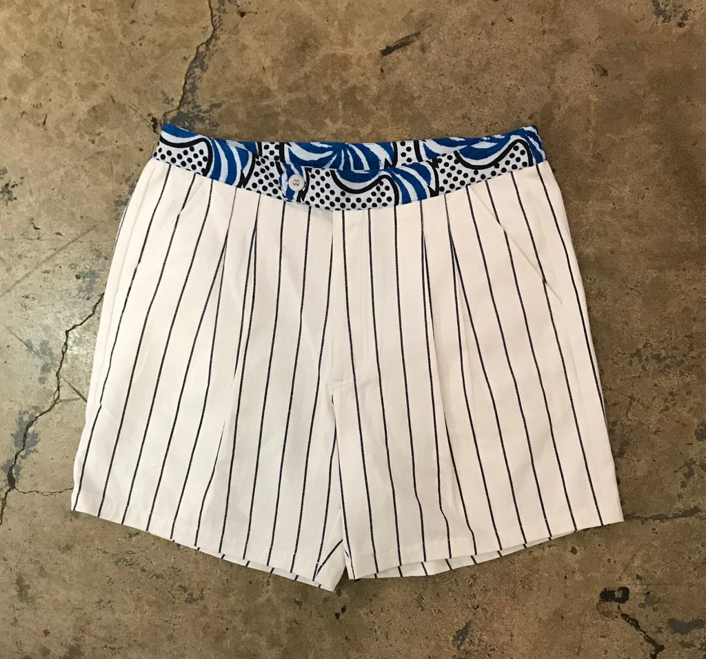 Yokishop - African Cotton Striped Shorts
