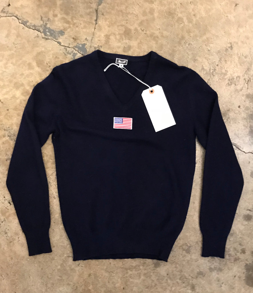 Yokishop - American Flag Patch Cashmere Sweater (Women's)