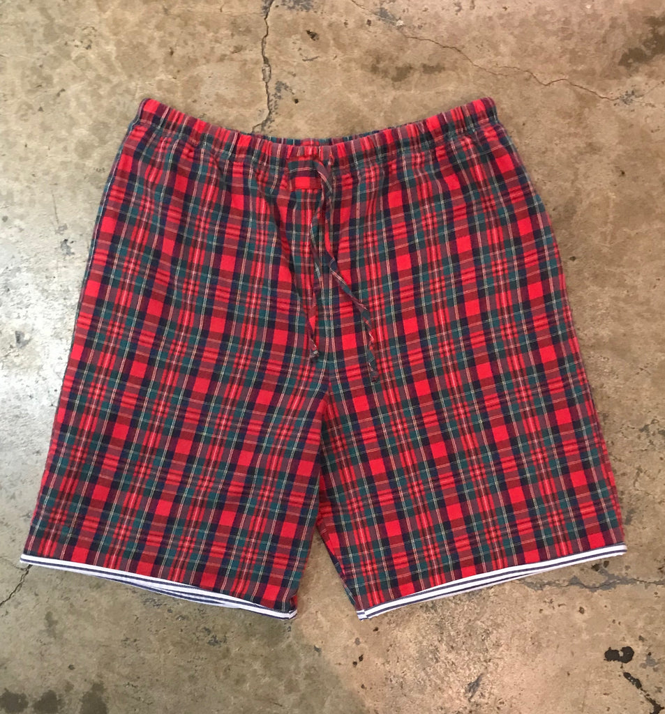 Yokishop - Classic Tartan Plaid Pajama Reversible Shorts