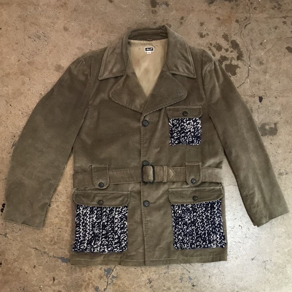 Yokishop - Men's Corduroy Jacket w/ Knit Pockets