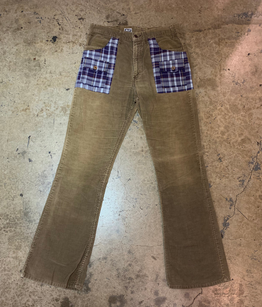 "Yokishop - ""Plaid"" Corduroy Pants"