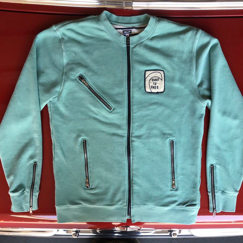 "Yokishop - ""SURF IS FREE"" Fleece Motorcycle Jacket"