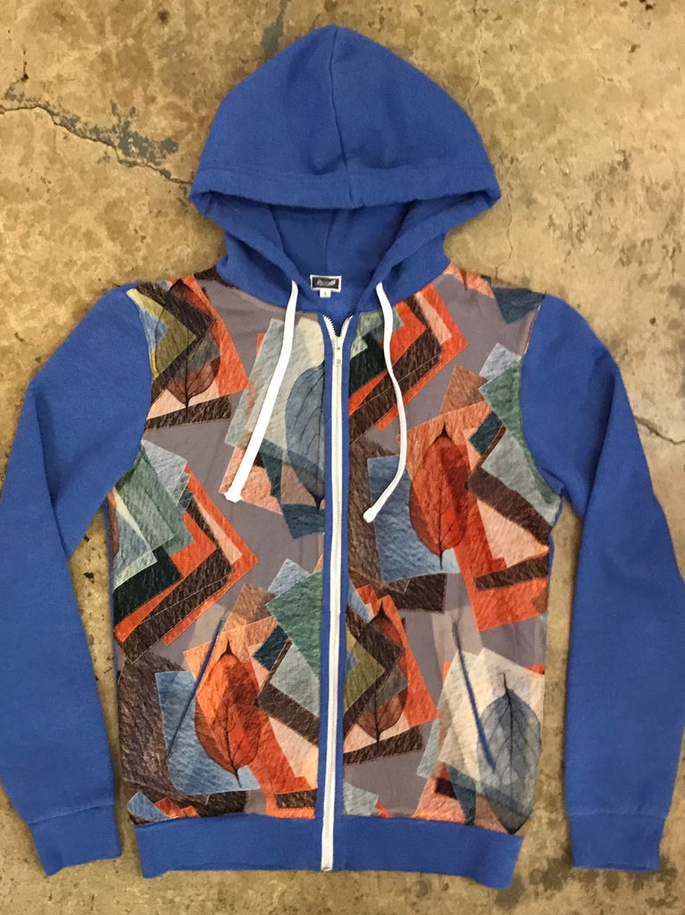 Yokishop - Vintage 60's Leaf Print Fleece