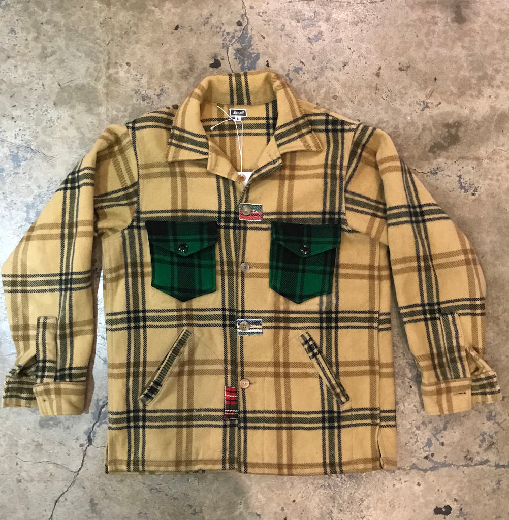 Yokishop - Vintage Wool Plaid Coat