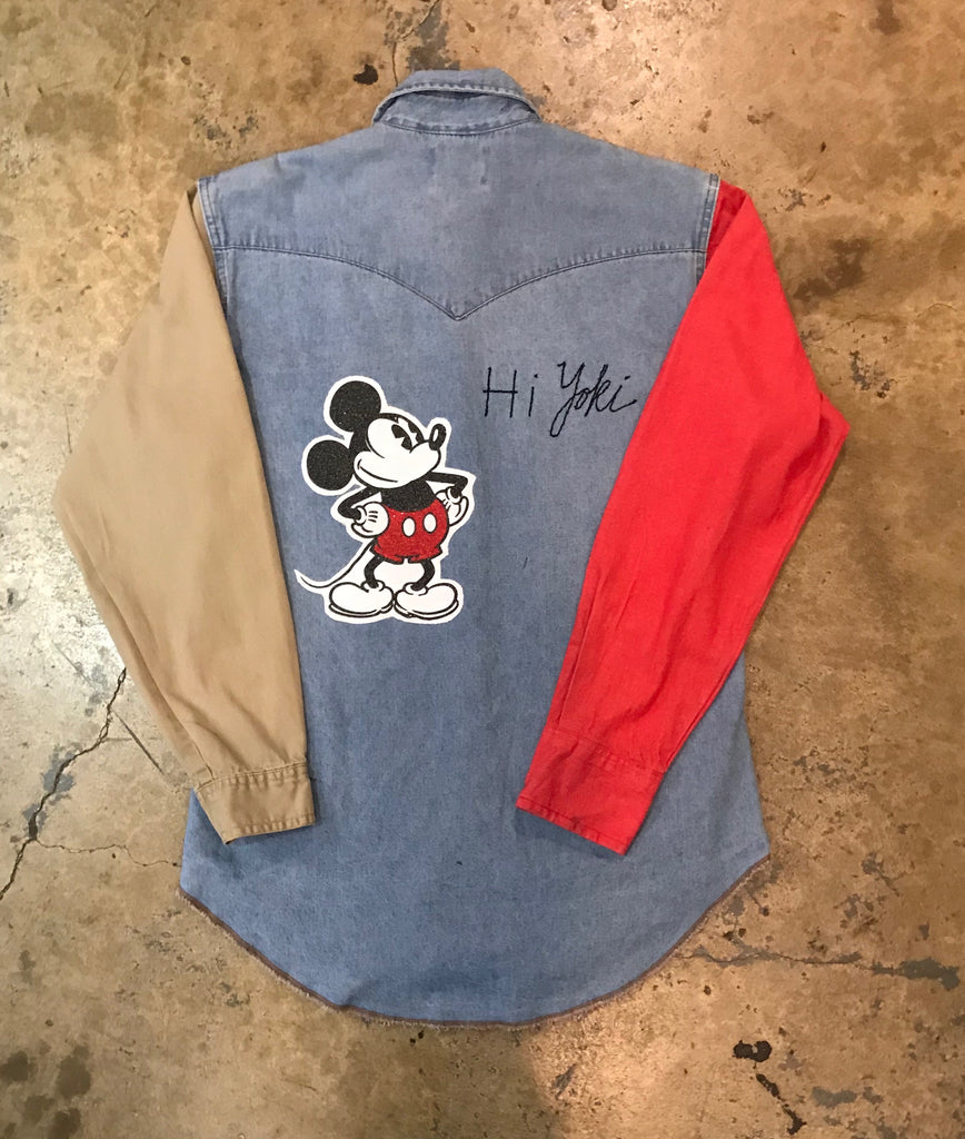 Yokishop - Wrangler Sleeve Swap Mickey Shirt