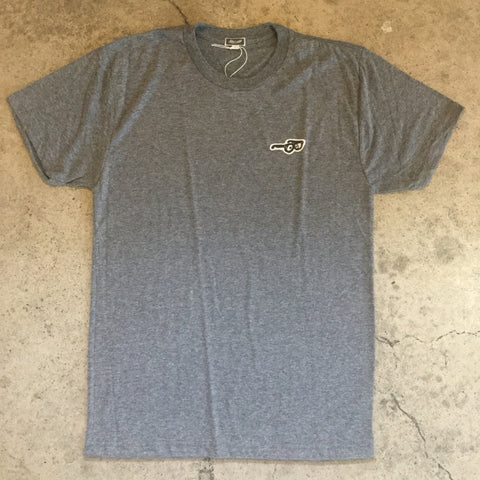 Little Glasses Patch Tee - Heather Grey