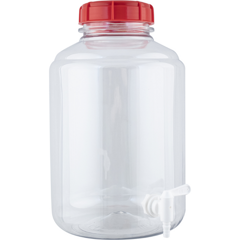 3 gallon Plastic Wide Mouth PORTED Carboy Fermenters