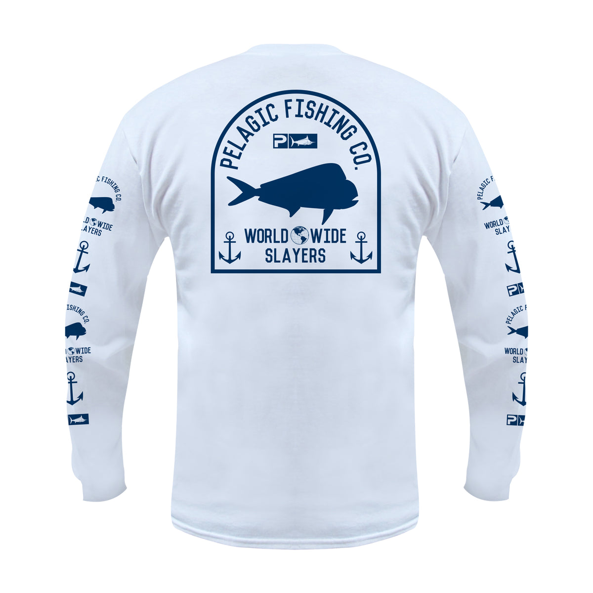 Worldwide Slayer Long Sleeve Fishing T-shirt Big Image - 1