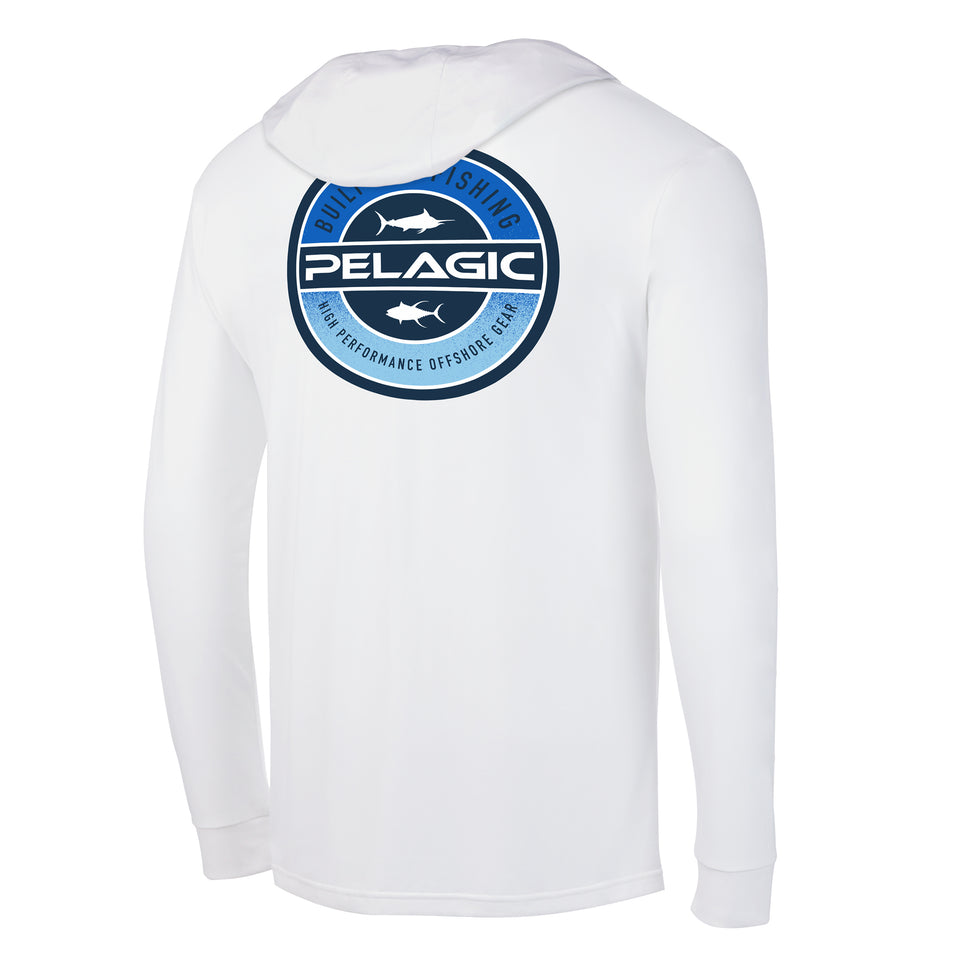 Aquatek Built Fade Hoodie Fishing Shirt Big Image - 1