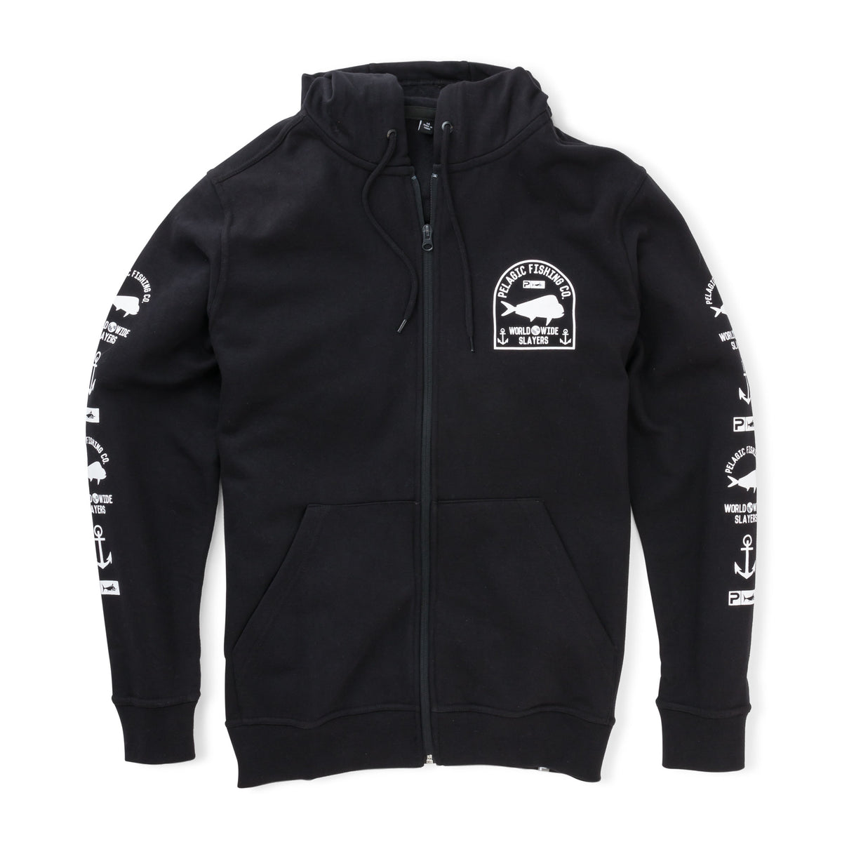 Worldwide Slayer Zip Hoodie Big Image - 2