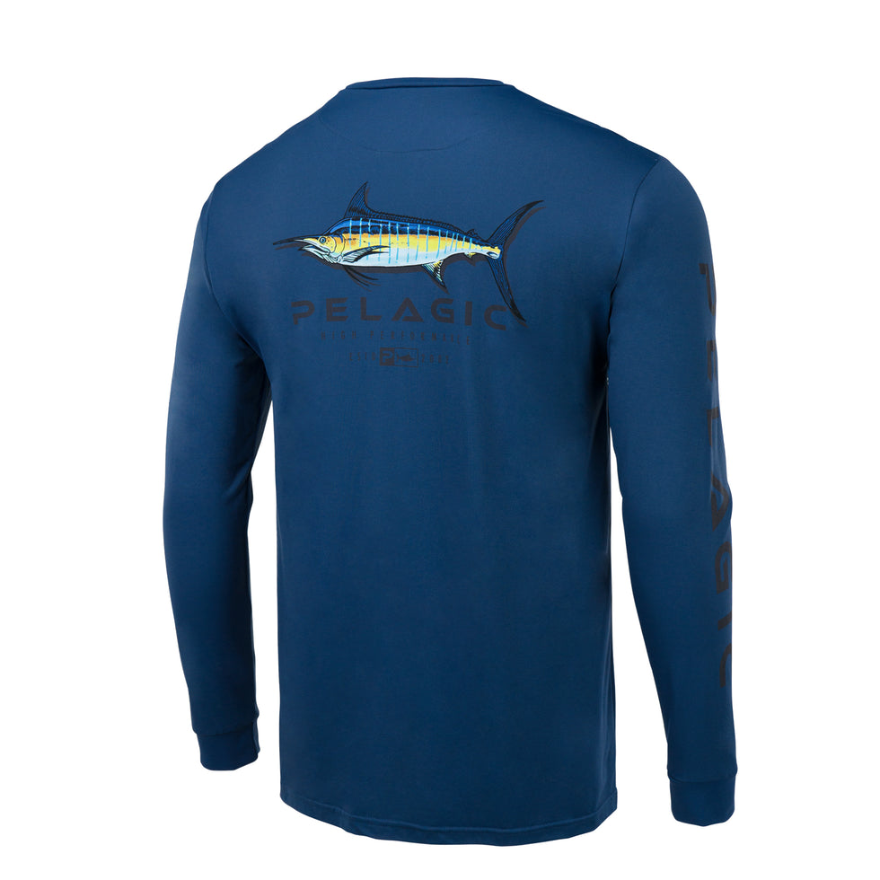 Aquatek Shadowed Marlin Long Sleeve Fishing Shirt Big Image - 1