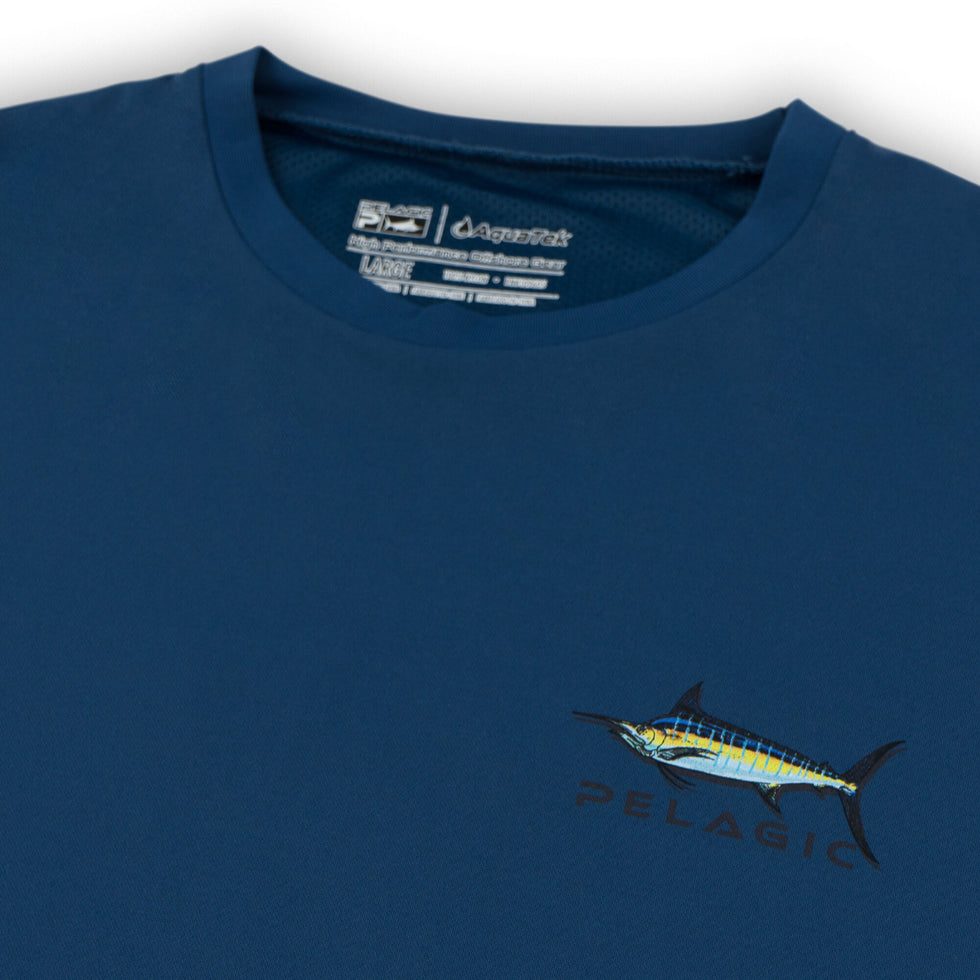 Aquatek Shadowed Marlin Long Sleeve Fishing Shirt Big Image - 4